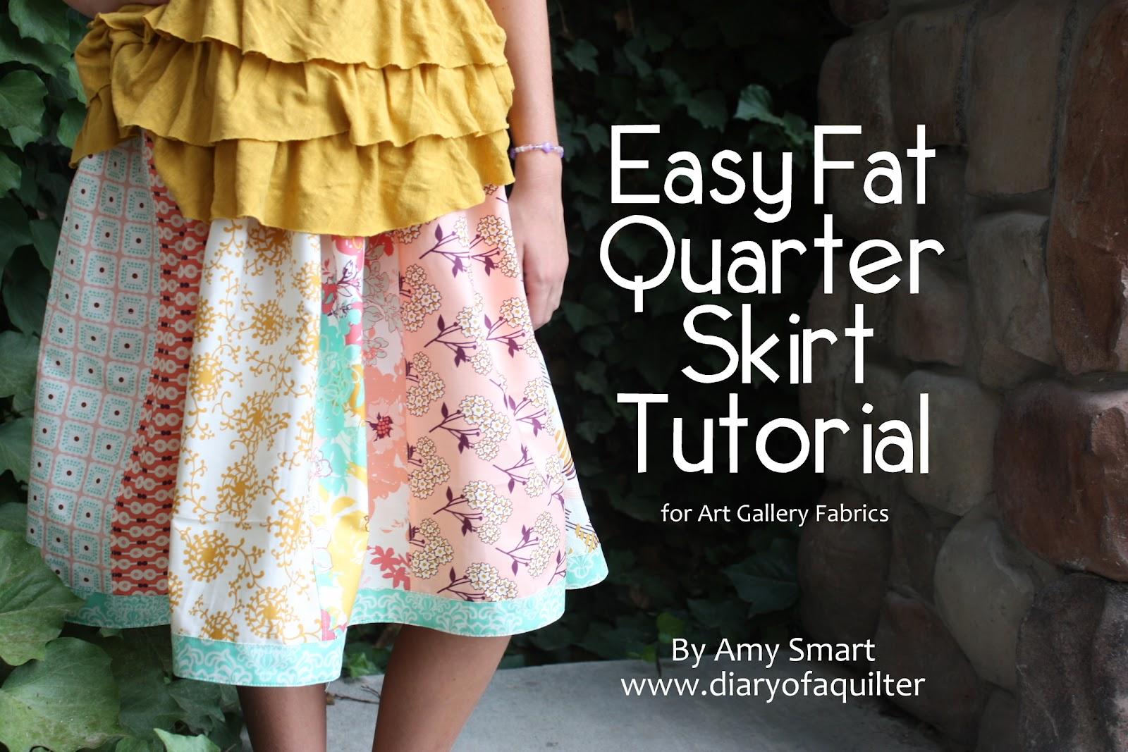 Fat quarter gang easy fq skirt tutorial by diary of a quilter afgeasyfatquarterskirttutorialg baditri Choice Image