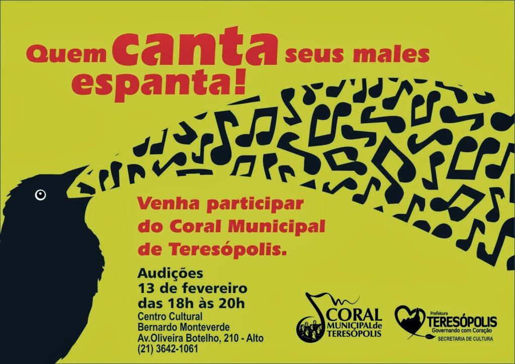 Prosseguem audições para Coral Municipal de Teresópolis