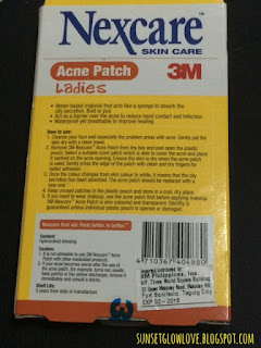 3M Nexcare Acne Patch box back