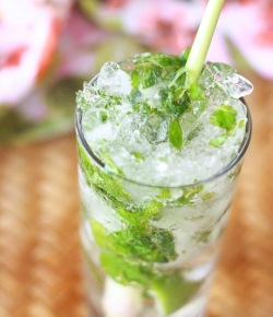 easy homemade mojito cocktail recipe with lemongrass herb