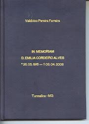 """in memoriam de """"D. Emilia Cordeiro Alves""""."""