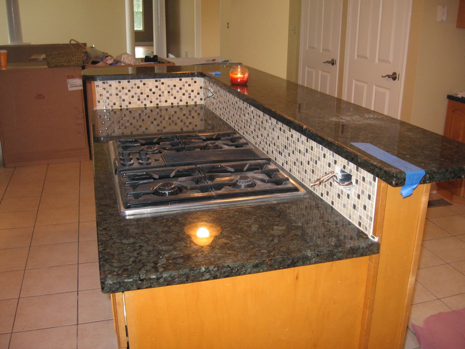 Kitchen Island with Gas Cooktop