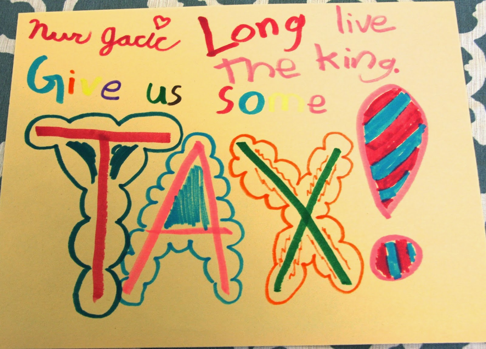Revolutionary War Activity- No Taxation Without ...
