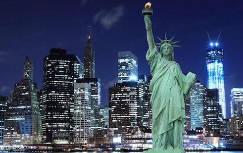 ciudad de nueva york estatua de la libertad edificios