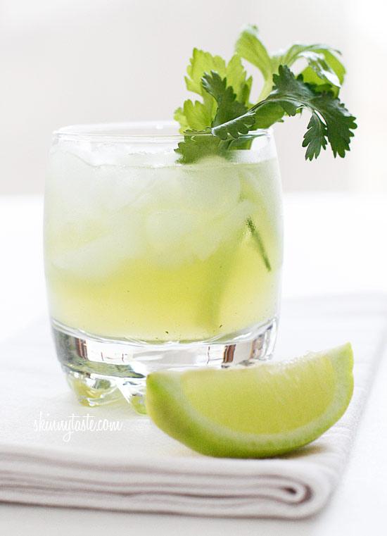 Celery Cilantro Cocktail Recipe — Dishmaps