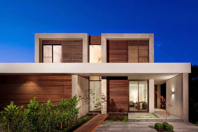 Casa moderna en melbourne minimalistas 2015 for Casa moderna 8