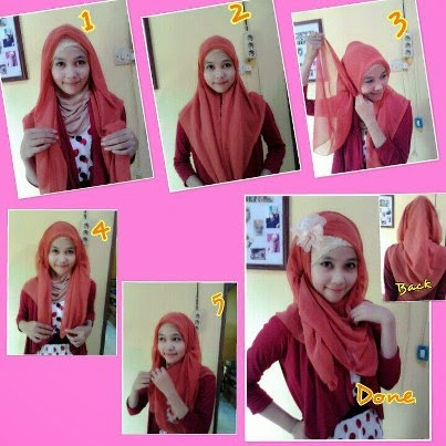 cara memakai model jilbab pasmina baru