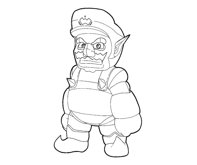 wario coloring pages - photo#32