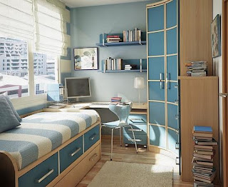 Blue teenage bedroom ideas