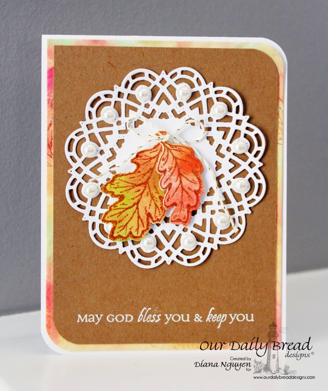 Our Daily Bread Designs, Autumn Blessings, All Occasions Sentiments, Doily die, Designed by Diana Nguyen