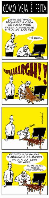 Confecção da Veja.