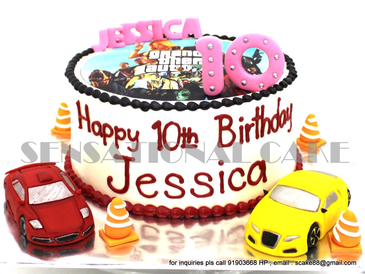 Gmail cars theme - Grand Theft Auto Theme Cream Cake Singapore Craft Bmw And Lamborghini Sports Car Theme Cake Singapore