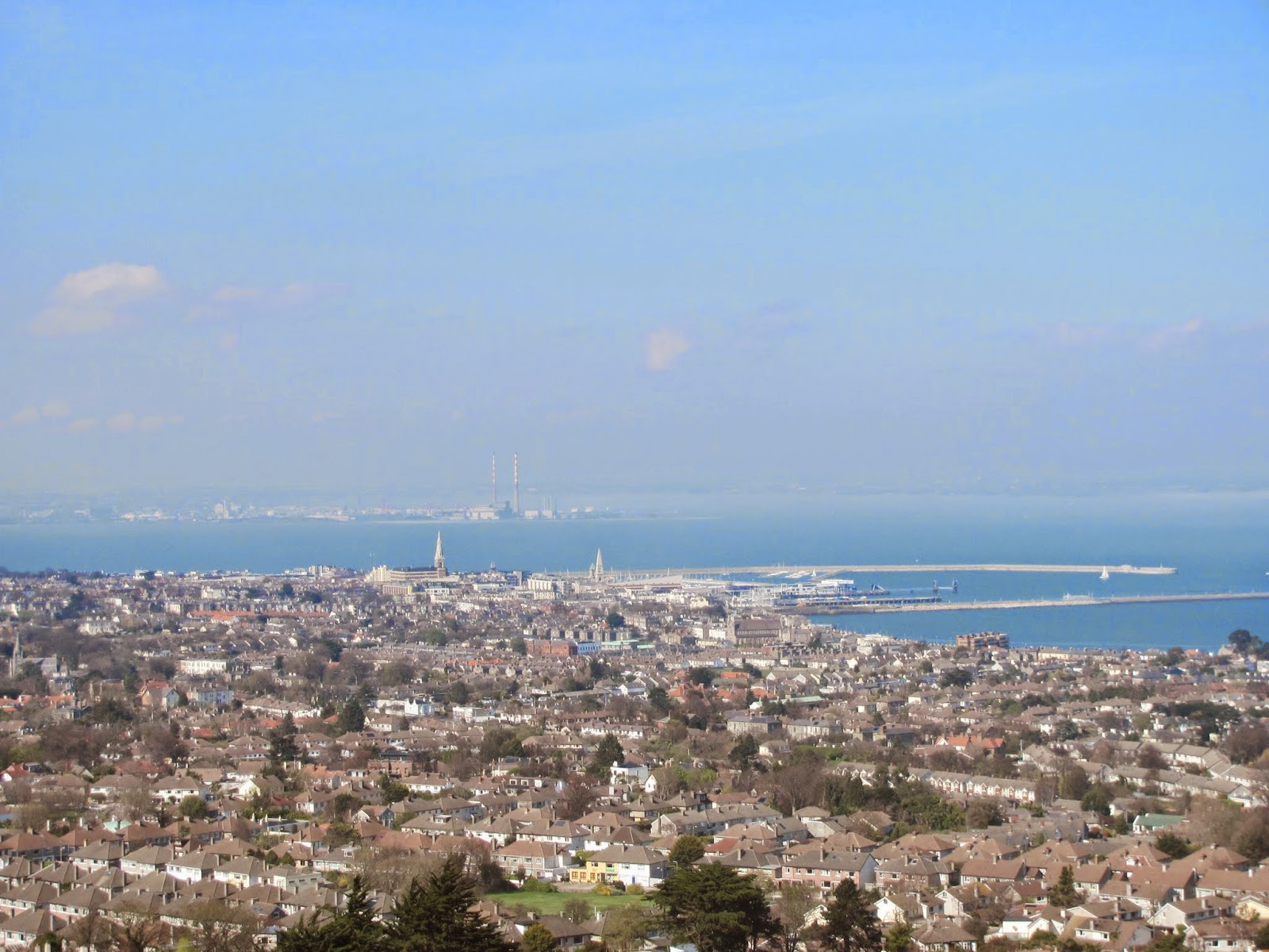 Dun Laoghaire and Dublin from Dalkey Hill