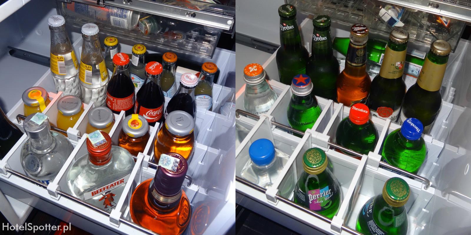 Buddha-Bar Hotel Budapest minibar alkohol