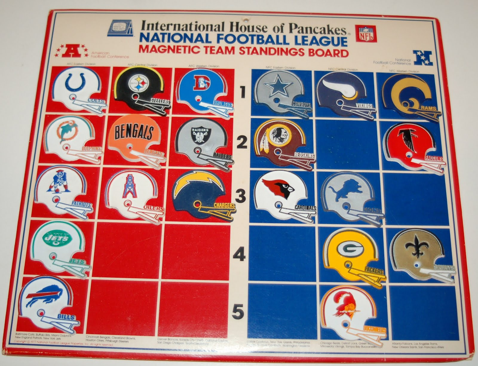 the fleer sticker project ihop nfl football helmet magnets and