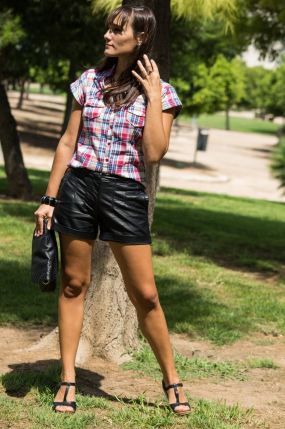 tartan, style, fashion, algo así, look, look verano,