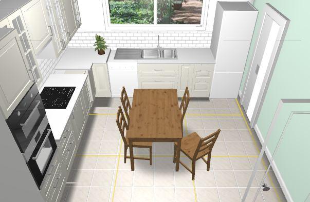 Eaunes sweet home notre maison sur eaunes 31 avec vmf travaux du week en - Table de cuisine sur mesure ikea ...