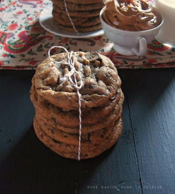 peanut butter + cinnamon chocolate chunk cookies | une gamine dans la cuisine