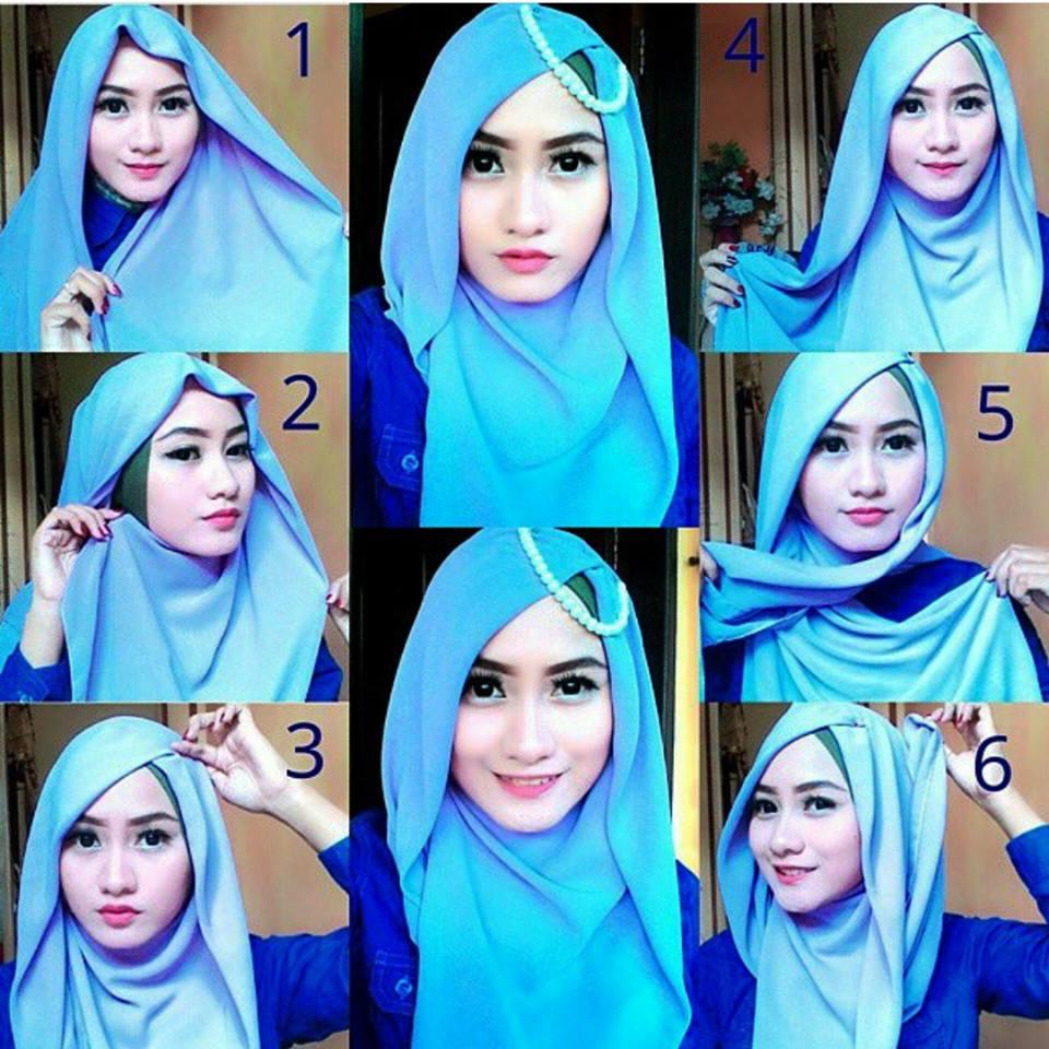Tips Hijab Tutorial Segi Empat Simple Dan Cantik Cocok Untuk