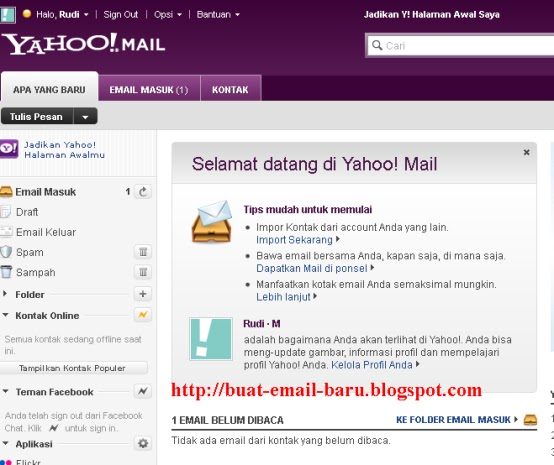 email on yahoo: