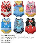 disney Cartoon Baby Sleeveless Romper (6 types) (kmuromper )