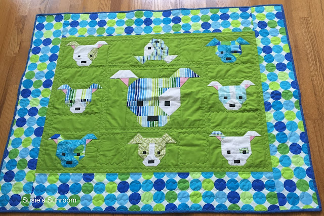 Susie's Sunroom: The Naughty Little Puppy Baby Quilt : cute quilt - Adamdwight.com