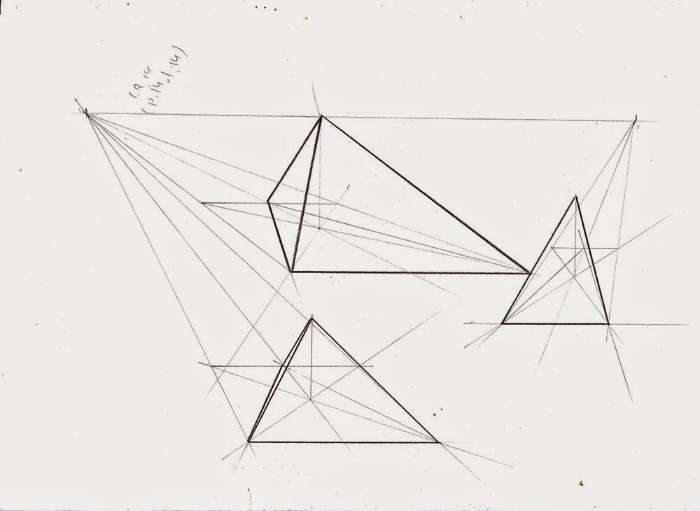 Drawing Lines With Triangle Combination : Weekly doodles and tuts how to draw a pyramid in