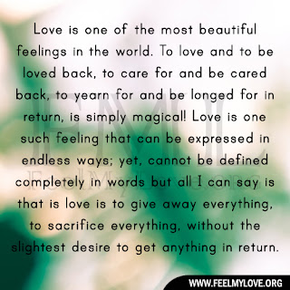 Love is one of the most beautiful feelings