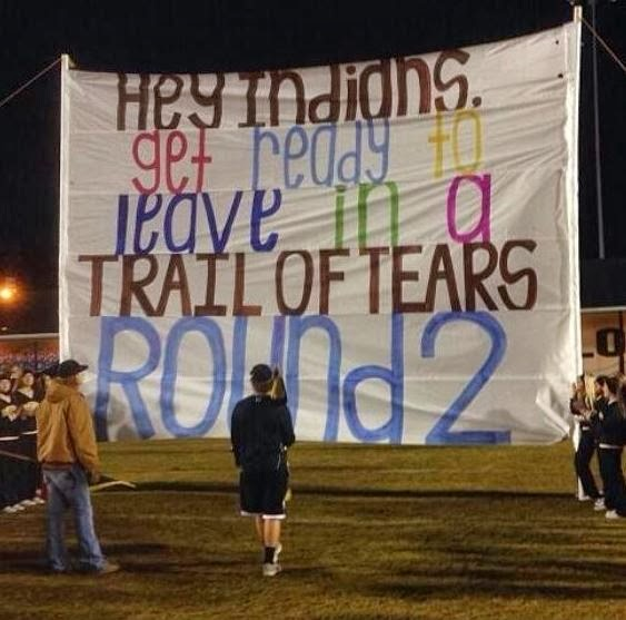 Trail of tears symbol for pain and suffering