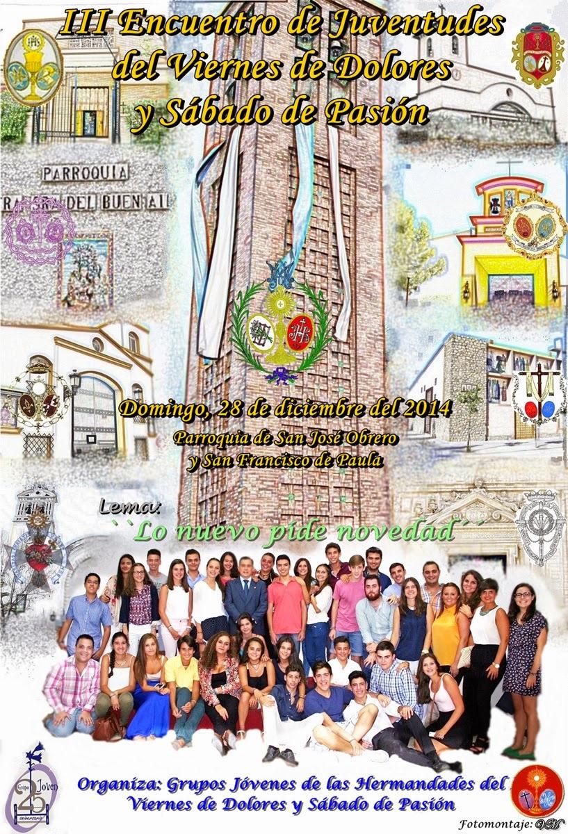 Cartel del III Encuentro de Jóvenes del Viernes de Dolores y Sábado de Pasión en San José Obrero