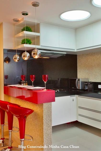 Construindo Minha Casa Clean 21 Cozinhas Americanas Modernas! Veja