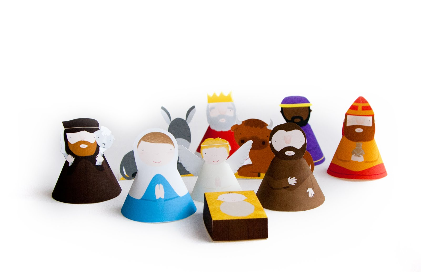 This christmas papercraft is a Nativity Set series, designed by ...