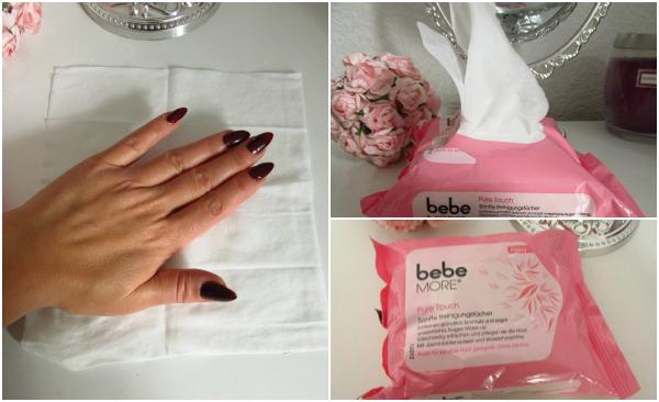 bebe More Pure Touch Sanfte Reinigungstücher Größe
