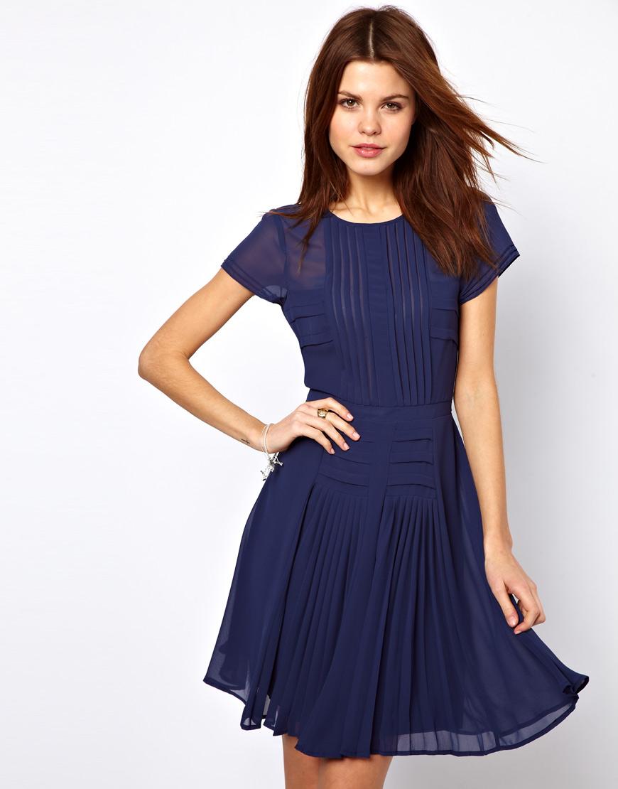 Prettiesu0026#39; closet Warehouse Pleated Bodice and Skirt Dress