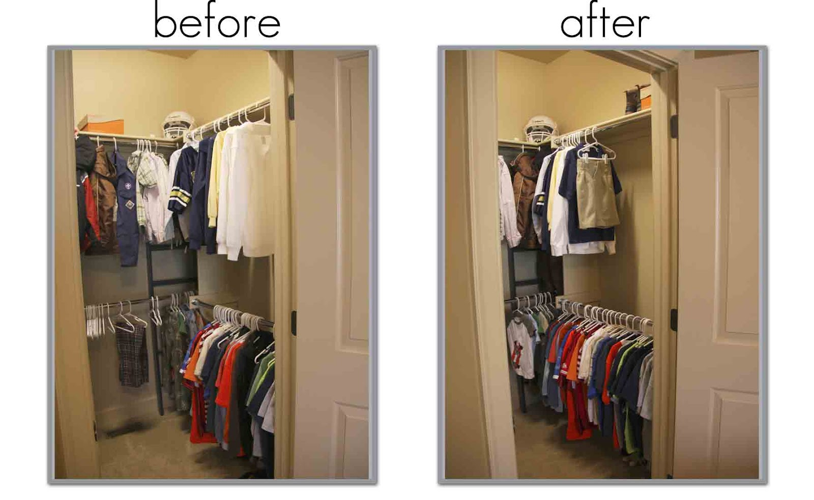 spring cleaning: the kid's closets