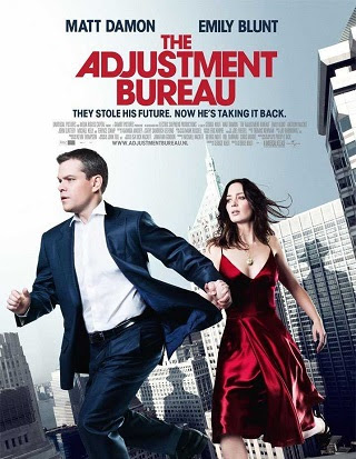 Poster Of The Adjustment Bureau In Dual Audio Hindi English 300MB Compressed Small Size Pc Movie Free Download Only At worldfree4u.com