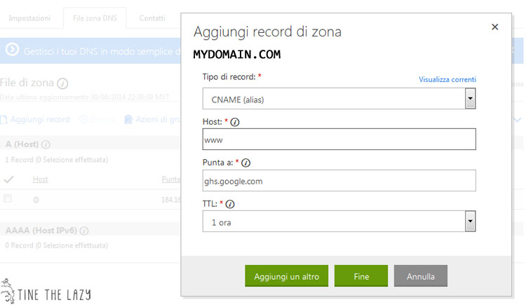 Come impostare un dominio personalizzato in Blogger