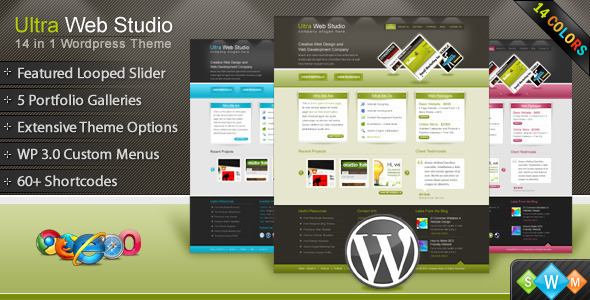 Image for Ultra Web Studio, Blog & Portfolio Theme by ThemeForest