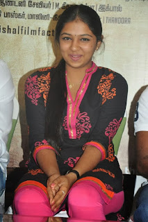 Actress Lakshmi Menon Pictures in Salwar Kameez at Pandiya Nadu Movie Success Meet 0014