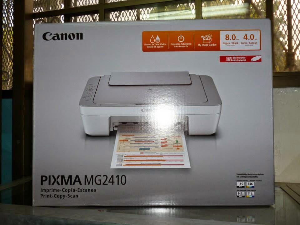 resetear impresora Canon pixma mg2410