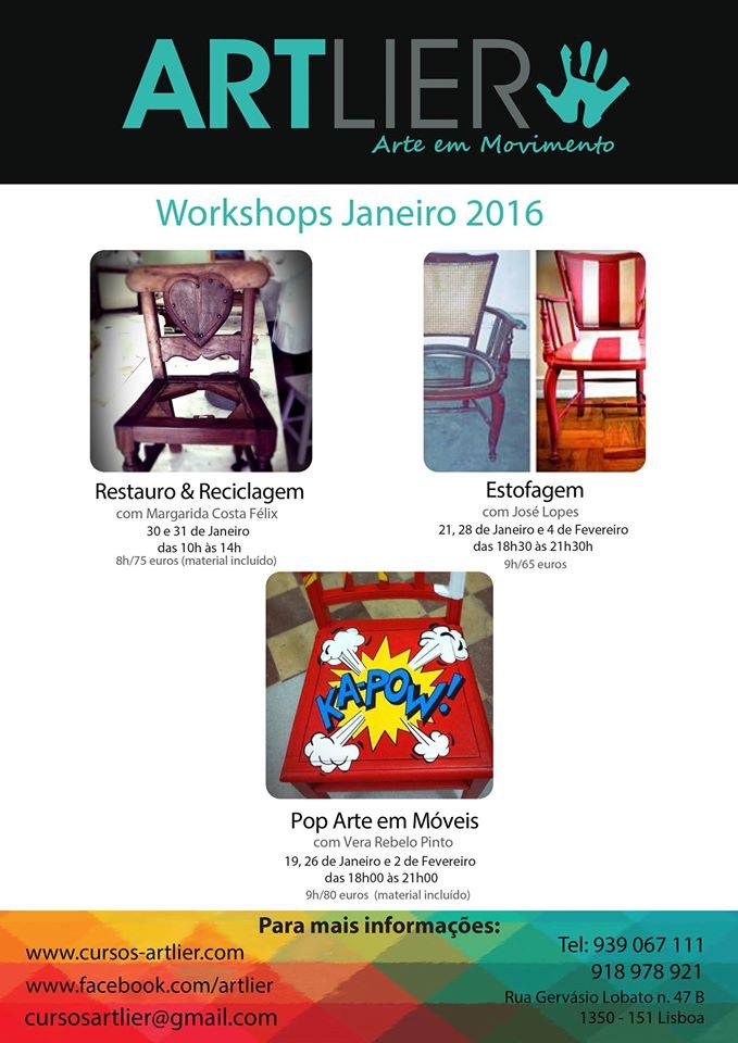 Workshops em Lisboa (Janeiro de 2016)