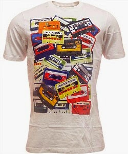 Scattered Cassettes T-shirt for Men