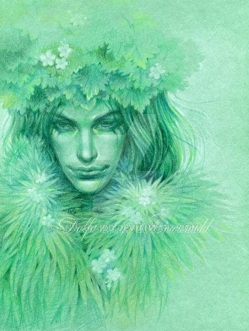 07-Green-Shadow-Olga-Anwaraidd-Drawings-Fantasy-Portraits-Imaginary-Characters-www-designstack-co