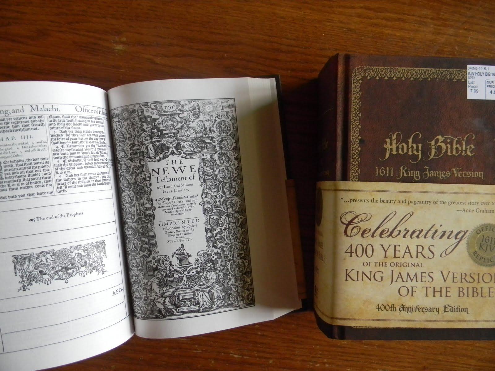 1611 KJV Bible Replica At Wal Mart (!)