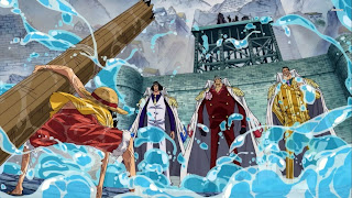 One Piece Marine Ford War Luffy Kuzan Akainu Kizaru Anime HD Wallpaper Desktop Background
