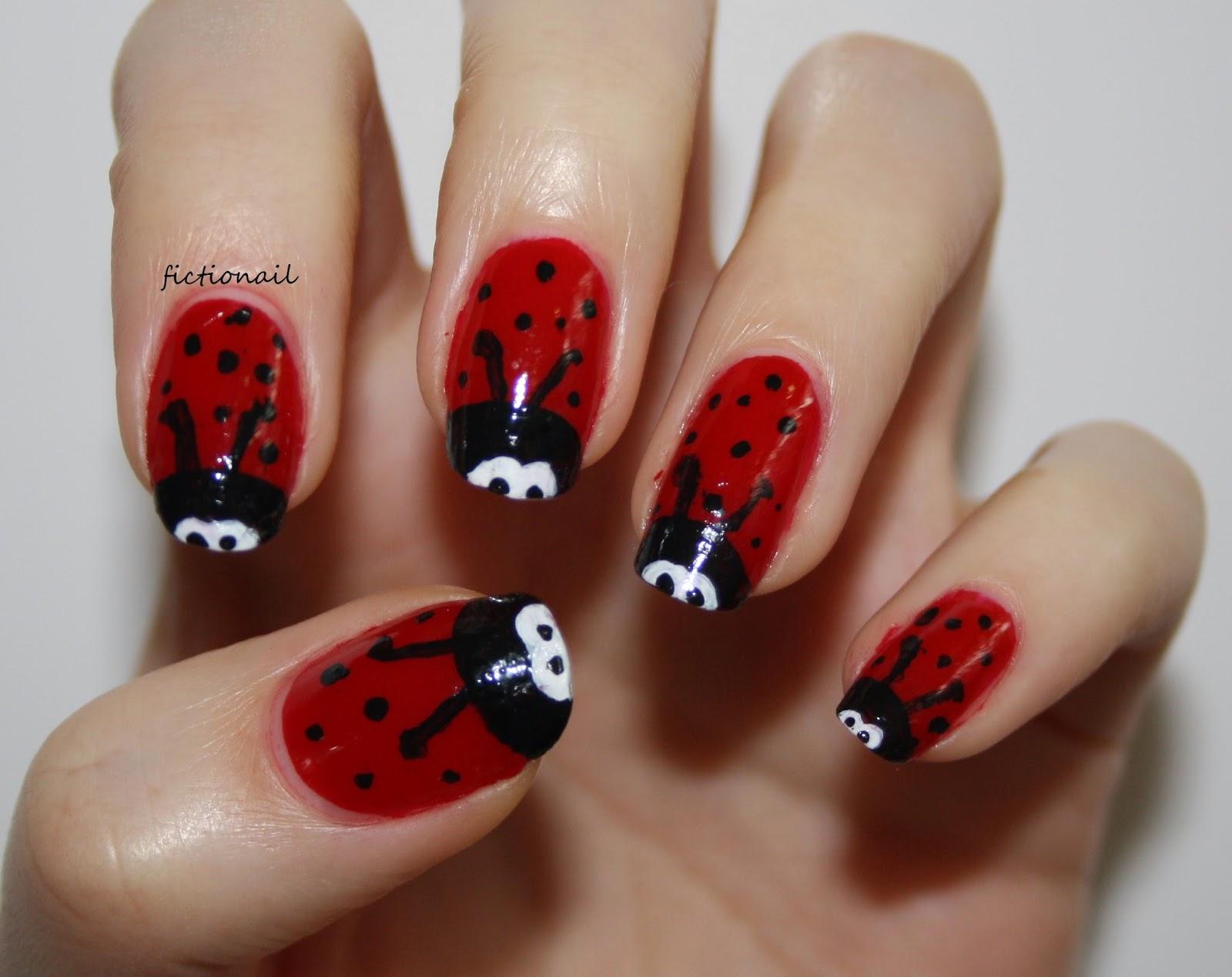 Ladybird And Minion Nails