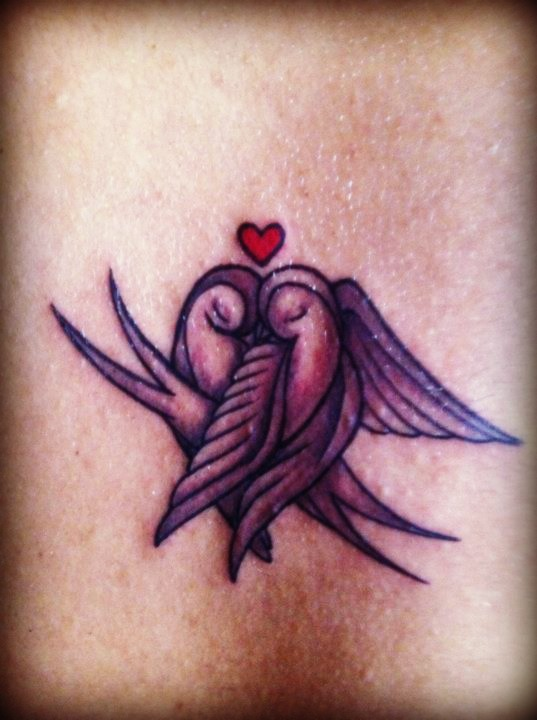 Piercings and Tattoos: Love Birds