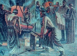 'Bajo la mirada del padre Beltrán se encendieron las fraguas y fundieron las armas y los artefactos de guerra. Cañones, granadas, balas, cureñas, cartuchos caramañolas, herraduras, bayonetas y máquinas eran las nuevas formas revolucionarias que asumían las antiguas campanas de los conventos y templos'.