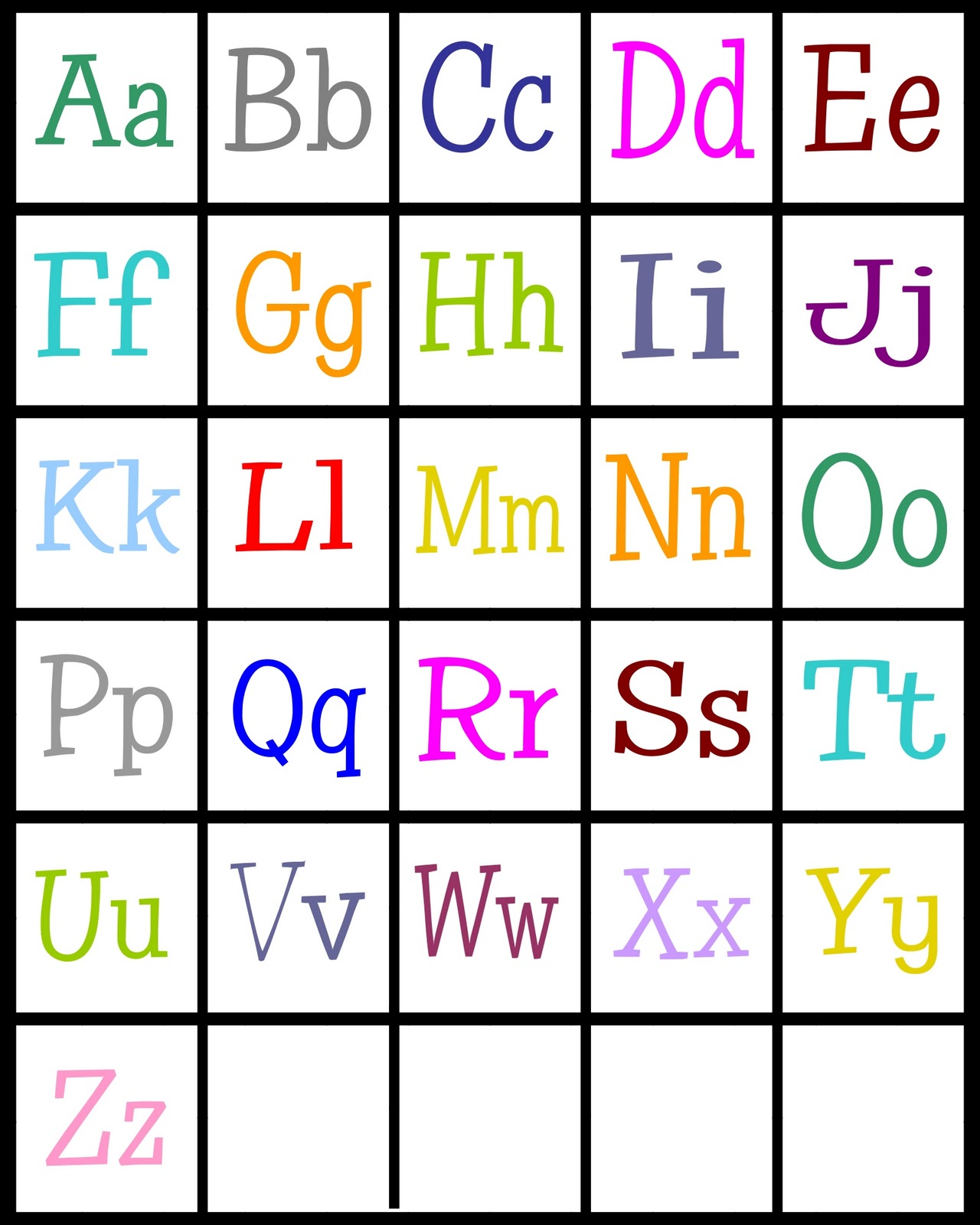 picture relating to Printable Abc Letters named ABCs Bingo- cost-free printable! - Sy Sanctuary