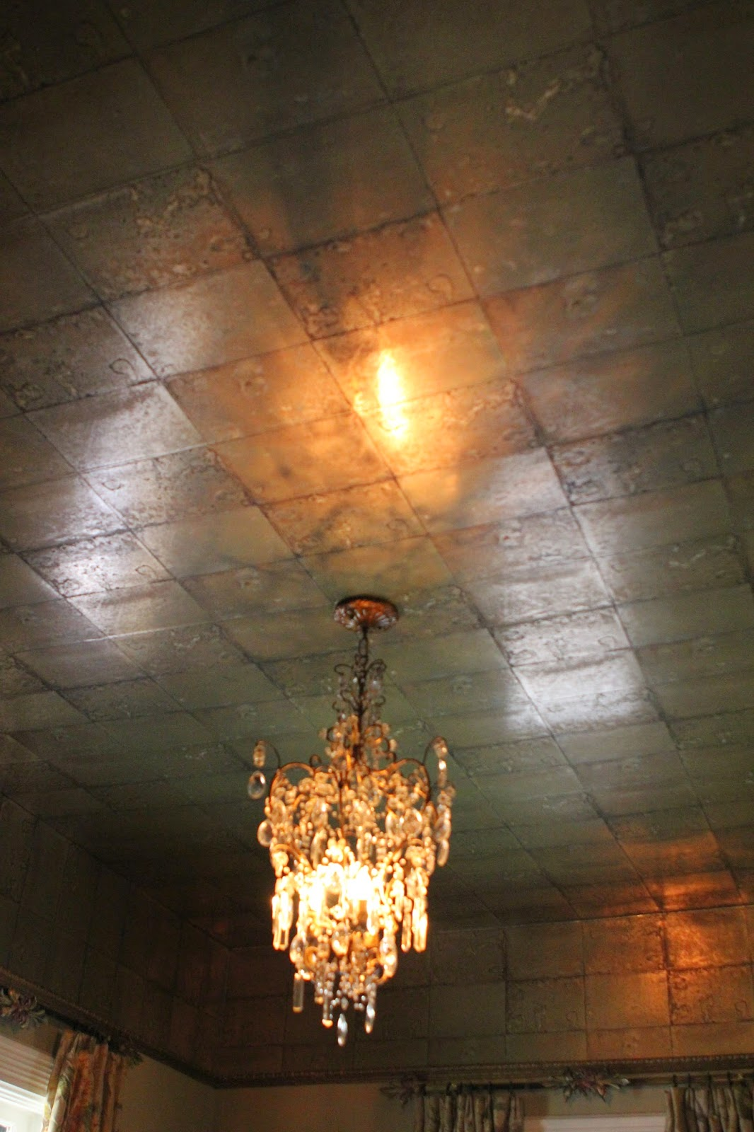 Romancing the home faux mirror tile ceiling dailygadgetfo Choice Image